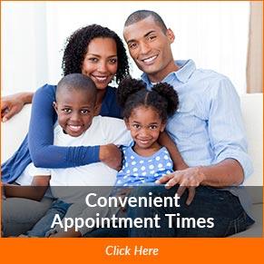 convenient appointment times